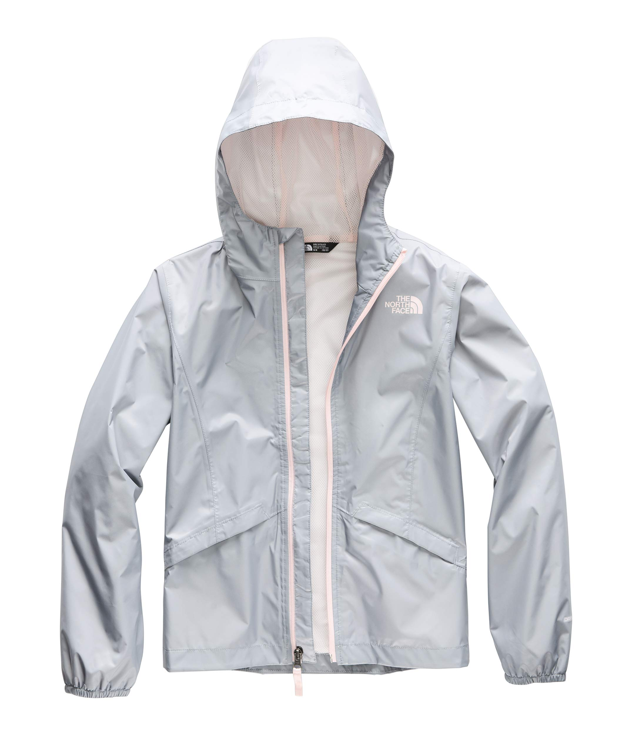 The North Face Kids Girl's Zipline Rain Jacket (Little Kids/Big Kids) Mid Grey Small