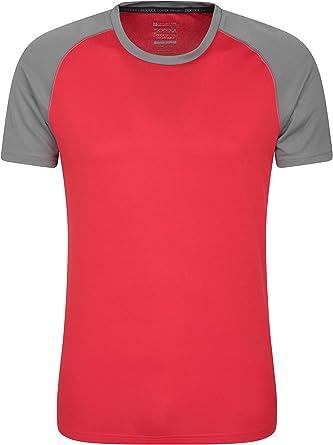 Mountain Warehouse Camiseta para Hombres Endurance - Transpirable, de protección Solar UPF30, Camiseta Ligera y cómoda, Cuidado fácil: Amazon.es: Ropa y accesorios