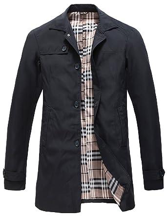 Pinkpum Homme Vent Classique Coupe Coat Manteau Trench Printemps HH7w6rq