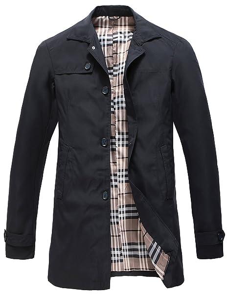 Pinkpum Man Trench Coat Cappotto Classico Primavera Estate Autunno Giacca  in Poliestere Sottile Giacche Giacca Leggera 2b63e4cf0d6