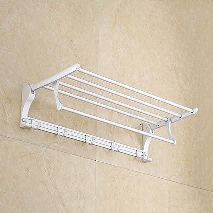 Sursy Doble cubierta de mueble toallero, toallero de baño de hotel, gancho para colgar
