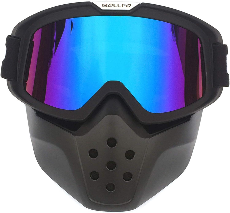 Yopria Motorrad Brille Mit Abnehmbarer Harley Stil Helm Nebelfest Winddicht Reiten Sonnenbrille Radfahren Motorräder Motorräder Auto