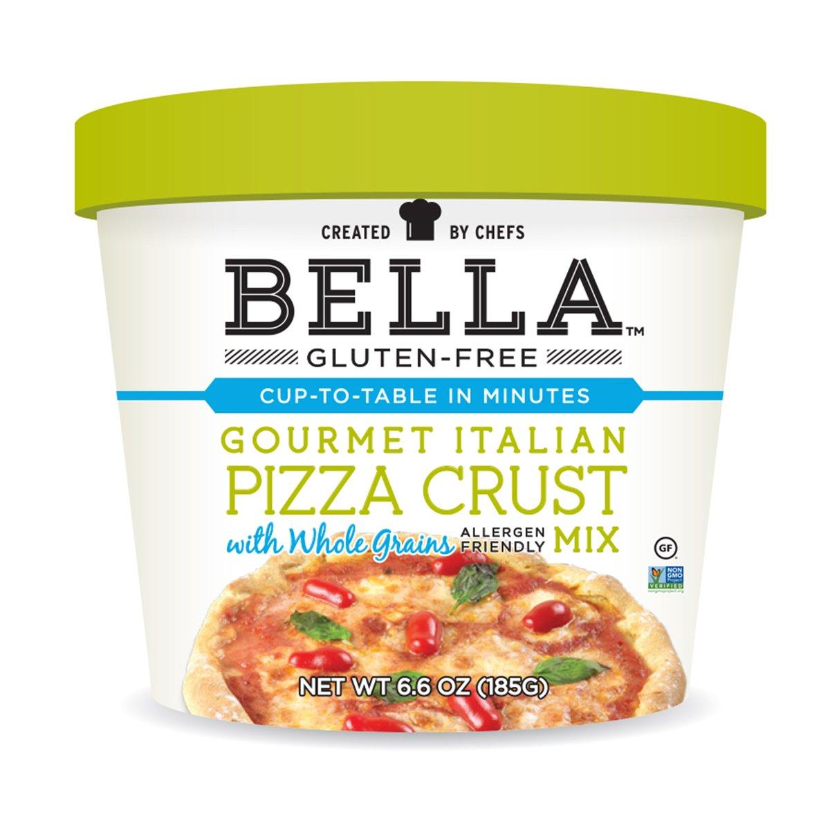 Bella Gluten-Free Italian Pizza Crust Dough Mix Premium Casein Free Healthy Flour, 6.6 oz (6 Pack) by Bella Gluten Free
