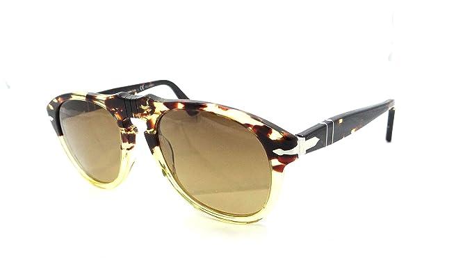 188d0b79da Image Unavailable. Image not available for. Colour  Persol Sunglasses 649 S  1024 m2 49x20 Ebano E ORO   Brown Faded Polarized