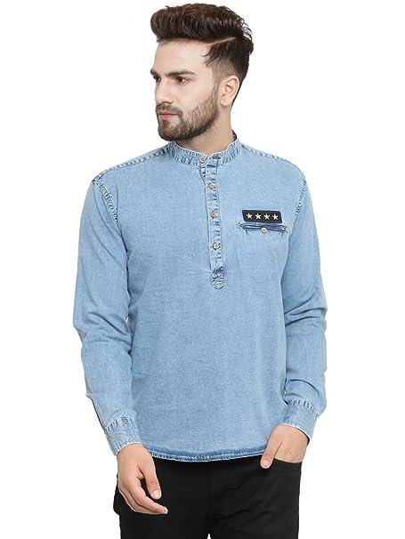 Ben Martin Men s Denim Cotton Kurta  Amazon.in  Clothing   Accessories 097f62095d2f4