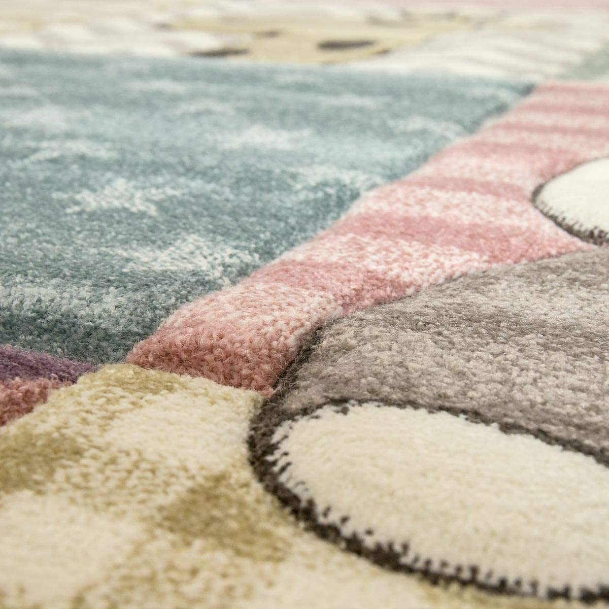 Gr/ö/ße:80x150 cm TT Home Kinder Teppich Moderner Spielteppich Niedliche Tier Motive Pastell Farben Bunt