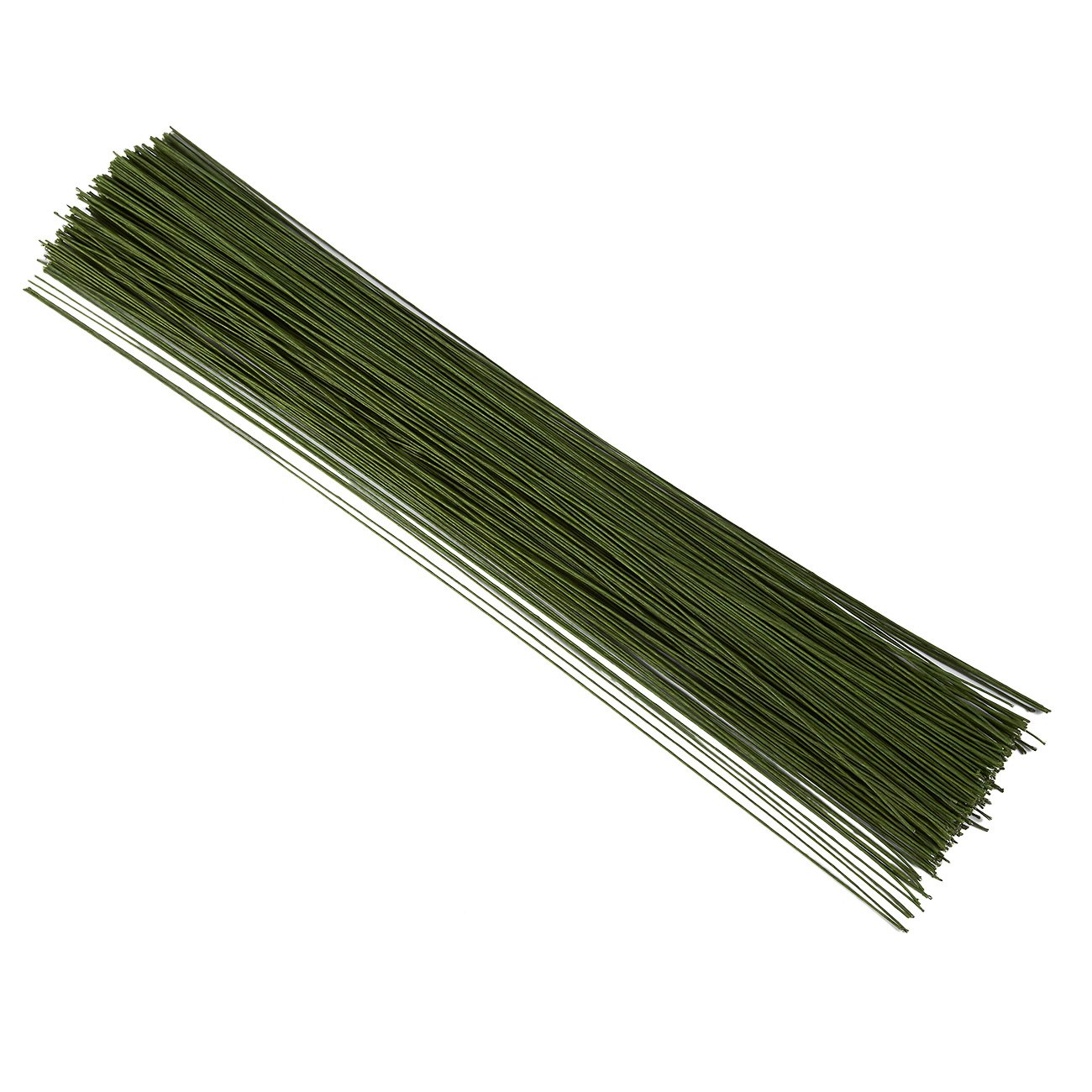 Juvale 300 Piece Wrapped 22 Gauge Floral Wire Stems for Bouquets, Flower Arrangements and DIY Crafts, Dark Green, 16 Inches by Juvale