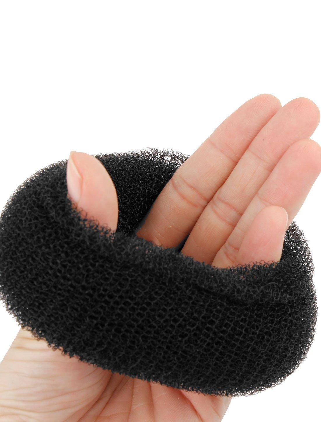 Amazon.com: eDealMax red de Nylon mWomen agic anillo del Bollo del buñuelo de dispositivos Secador de Pelo 3.5 Diámetro Negro: Health & Personal Care