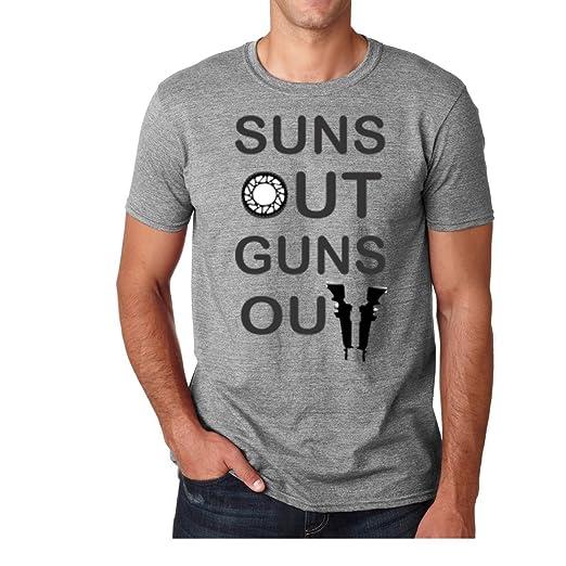 AW Fashions Suns Out Guns Out - Gym Premium Mens T-Shirt (Small,