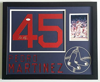 buy online 866e7 5af7d Pedro Martinez Signed Autographed Jersey Number Boston Red ...