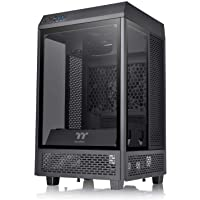 Thermaltake CA-1R3-00S1WN-00 The Tower 100 Tempered Glass Mini Tower Black Edition