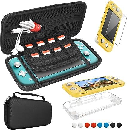 FASTSNAIL 3IN1 - Kit de accesorios para Nintendo Switch Lite, funda de transporte, protector de pantalla y funda de TPU: Amazon.es: Electrónica
