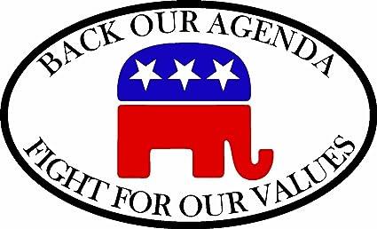Amazon.com: ION Graphics Trump Republican Back Our Agenda ...