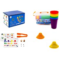 Rainbow Counting Pebbles – First Counting and Construction Toy Set with Activity Cards – Colorful Set with Storage Case…