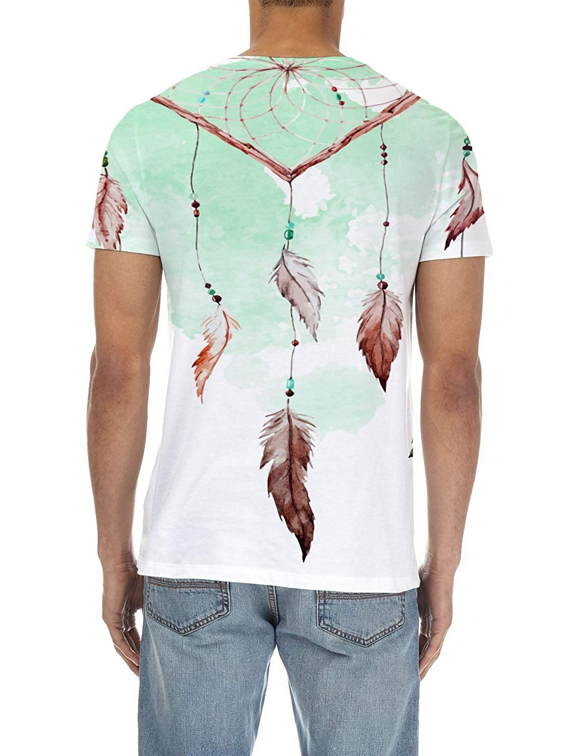 SunShine Day Feather Mens Everyday ComfortSoft Short Sleeve T-Shirt for Workout Running Sports