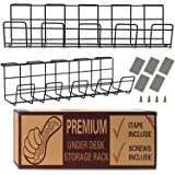 Under Desk Cable Management Tray - Wire Organizer for Cable Management - Glass Table Storage Cable Management Tray for…