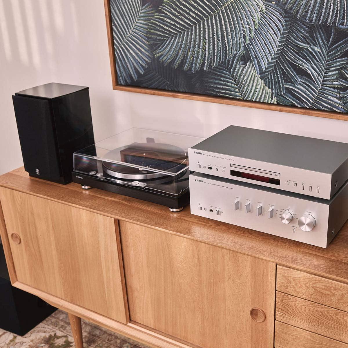 Piano Black Yamaha TT-S303 Hi-Fi Vinyl Belt Drive Turntable