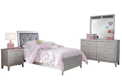 Ashley Olivet 4PC Bedroom Set Twin Panel Bed