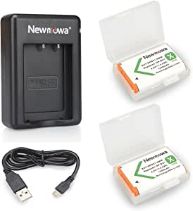 NP-BX1 Newmowa Battery (2-Pack) and Dual USB Charger Set for Sony NP-BX1, NP-BX1/M8 and Sony Cyber-Shot DSC-RX100, DSC-RX100 II, DSC-RX100M II, DSC-RX100 III, DSC-RX100 V, DSC-RX100 IV, HDR-CX405