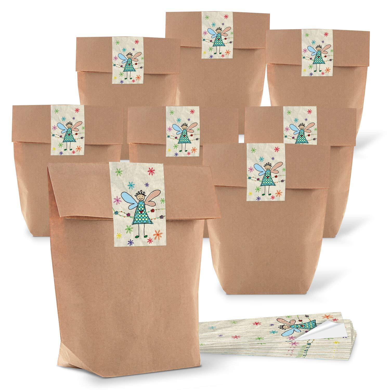 10 kleine braune Papiert/üten natur Kraftpapier 9 x 15 x 3,5 cm Mini-T/üten Kreuzbodenbeutel Bodenbeutel Sackerl Verpackung Tischkarte Geschenk give-away Papierbeutel