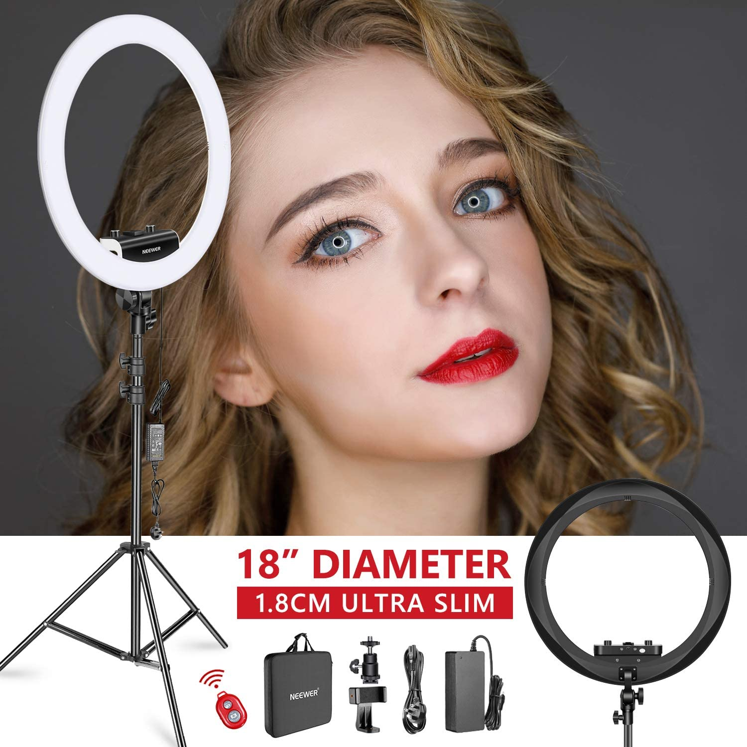 Neewer LED Ring Light, Stand and Phone Clip for £59.04