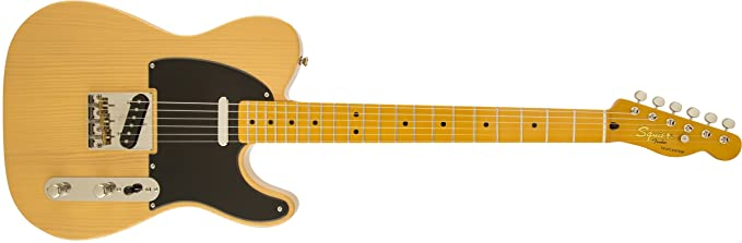 Squier by Fender Classic Vibe 50's Hand Telecaster Electric Guitar - Butterscotch Blonde - Maple Fingerboard