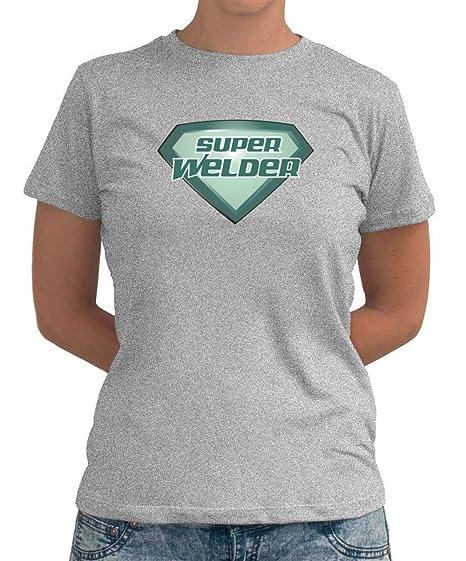 Super soldador señora T-Shirt gris extra-large