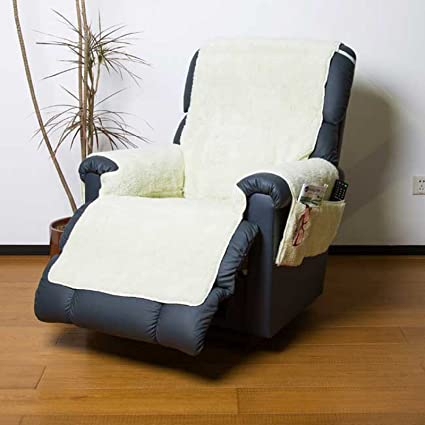 Easylife FLEECE RECLINER CHAIR COVER WITH POCKETS FLEECY PROTECTOR CREAM  (5177)  Amazon.co.uk  Kitchen   Home 9f1c4a36a