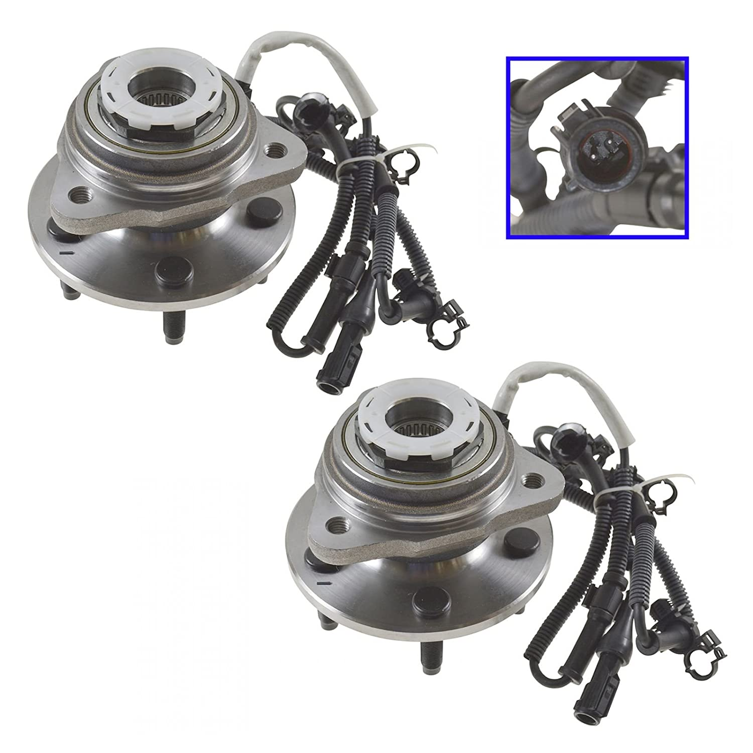 Amazon.com: Front Wheel Hub & Bearing Pair Set of 2 for Ranger B-Series  Pickup 4WD 4x4: Automotive