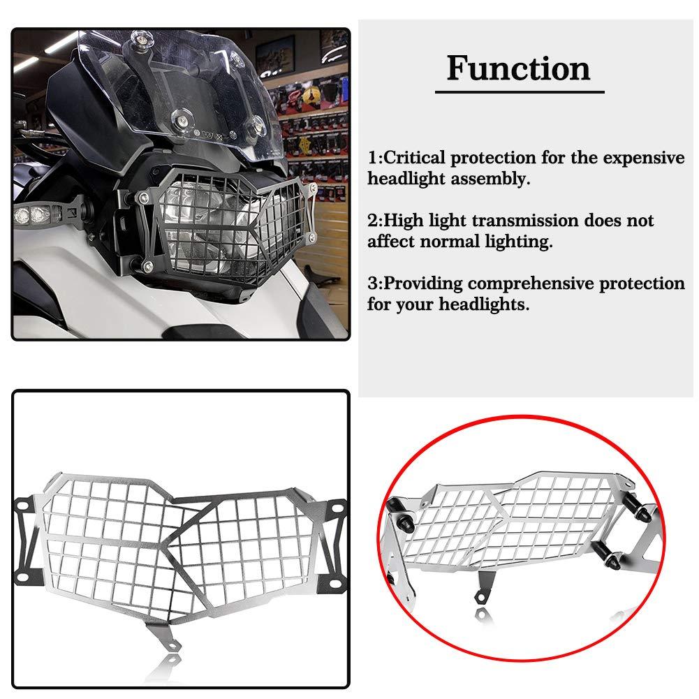 Motorrad F 750GS LED Scheinwerfer Gitter Bewachen Gitterhalterung Bildschirmschutz for F750GS F 750 GS 2019 /& Up Silber