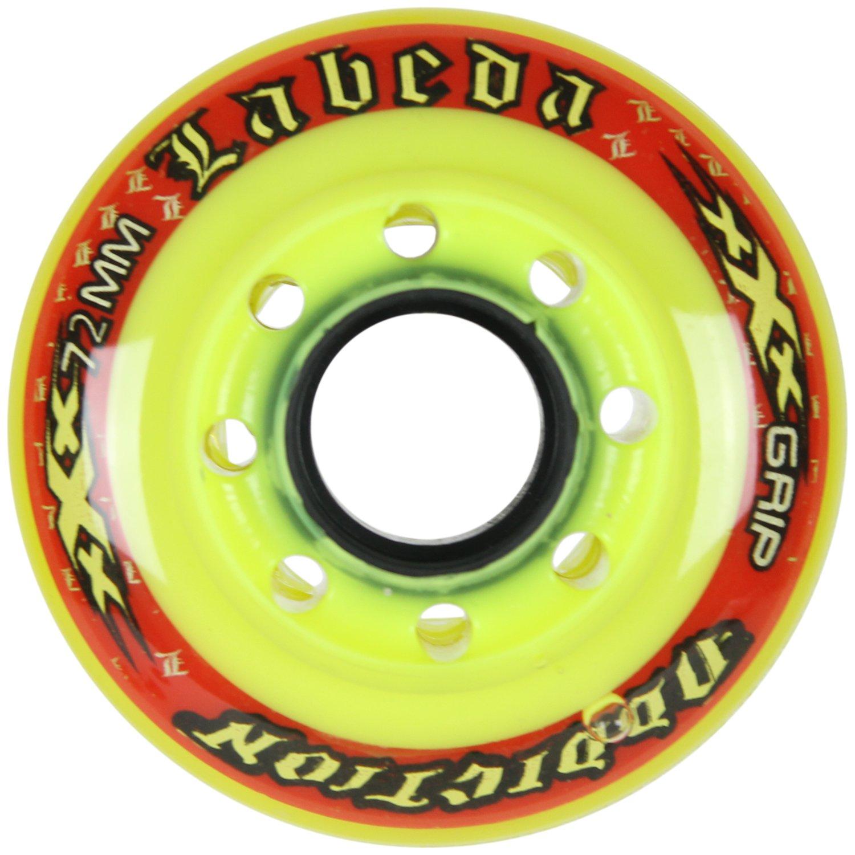 Labeda AddictionホイールXXXグリップイエロー/レッド72 mm Roller Hockey (シングルホイール)   B07B6F6ZCT