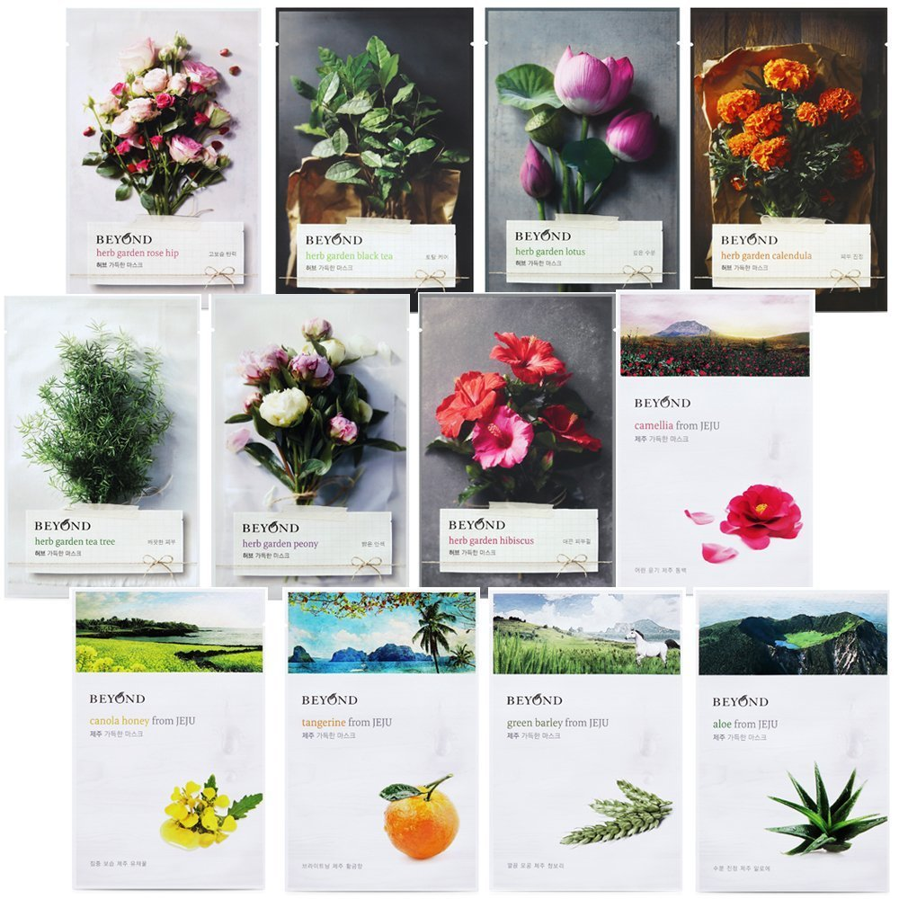 amazon com beyond herb garden mask from jeju wrinkle