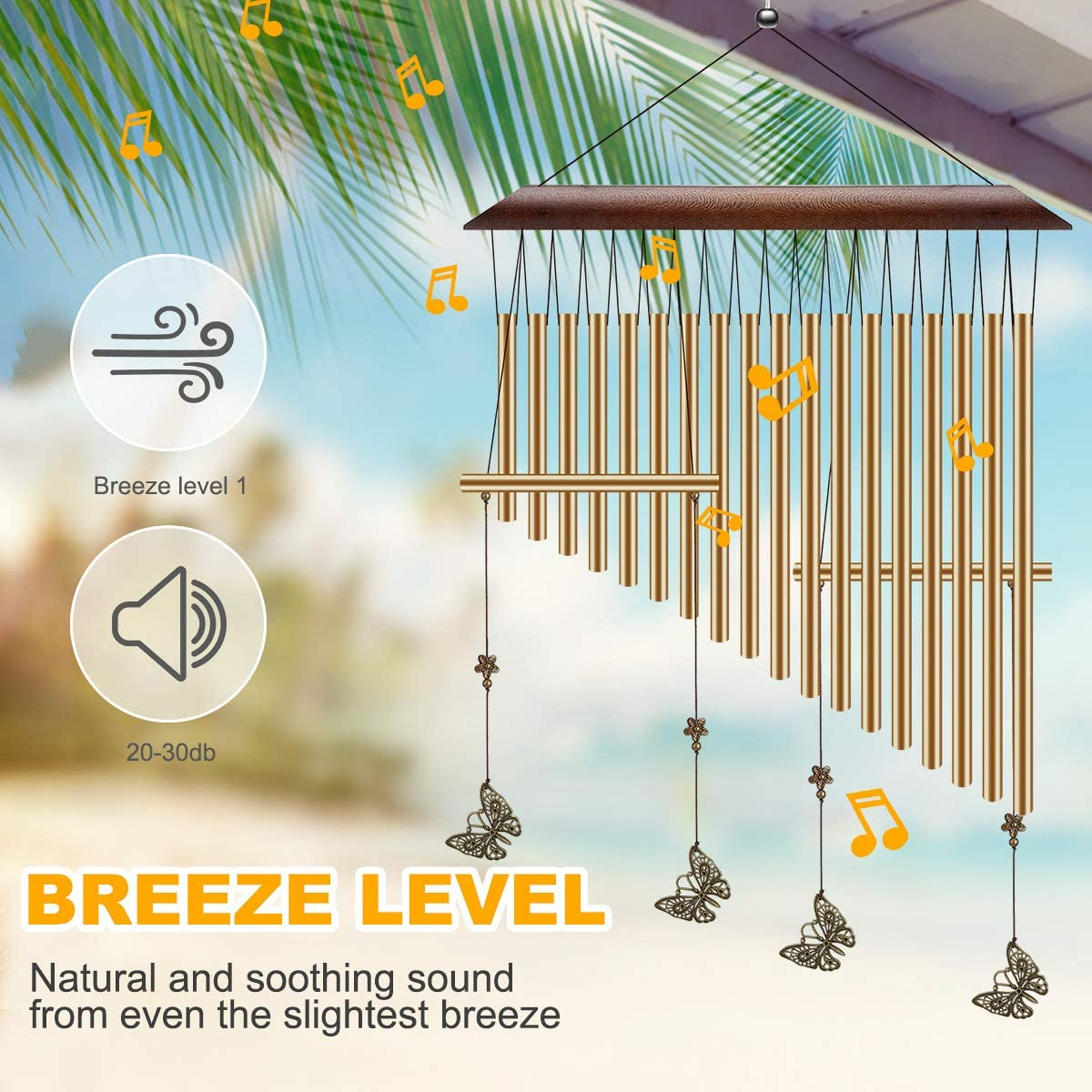 CestMall Wind Chimes Memorial Wind Chimes Outdoor Large Deep Tone 30 Sympathy Amazing Grace Wind Chimes with 18 Tubes Soothing Tone Metal Wind Chimes for Patio Garden Yard Balcony Porch Home Decor