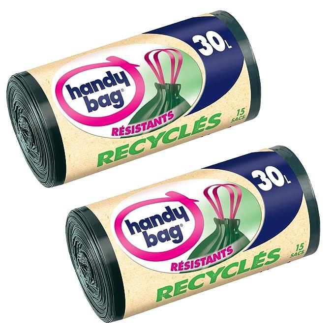 2 opinioni per Handy Bag 3557880400057- Sacchetti della spazzatura riciclati, con impugnature