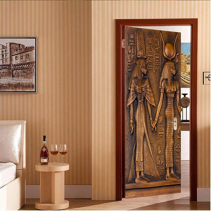 DEENLI Pegatinas Decorativas Papel Fotografico, Vinilo Pared Pared 3D, Renovación De La Puerta Impermeable Extraíble, |Tamaño 30.3