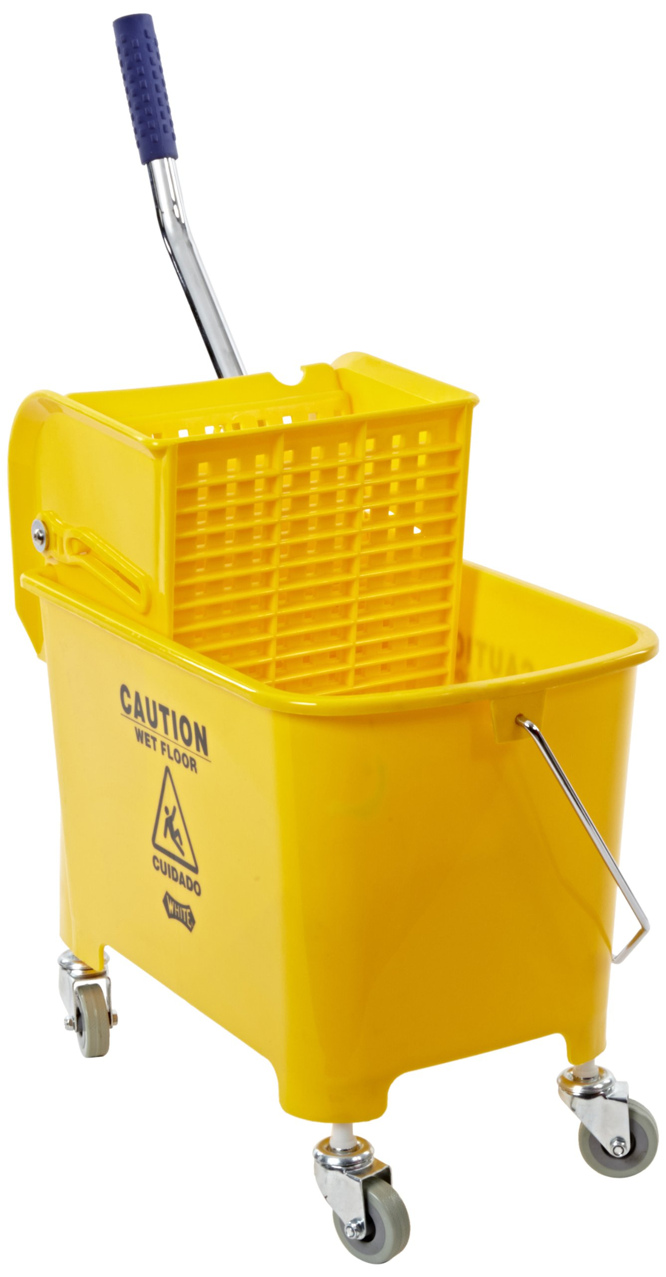 Impact 2Y/2021-2Y Compact Mopping System Combo with 2'' Non-Marking Casters, 21 qt Capacity, 17-1/2'' Height x 10-1/2'' Width x 18'' Depth, Yellow