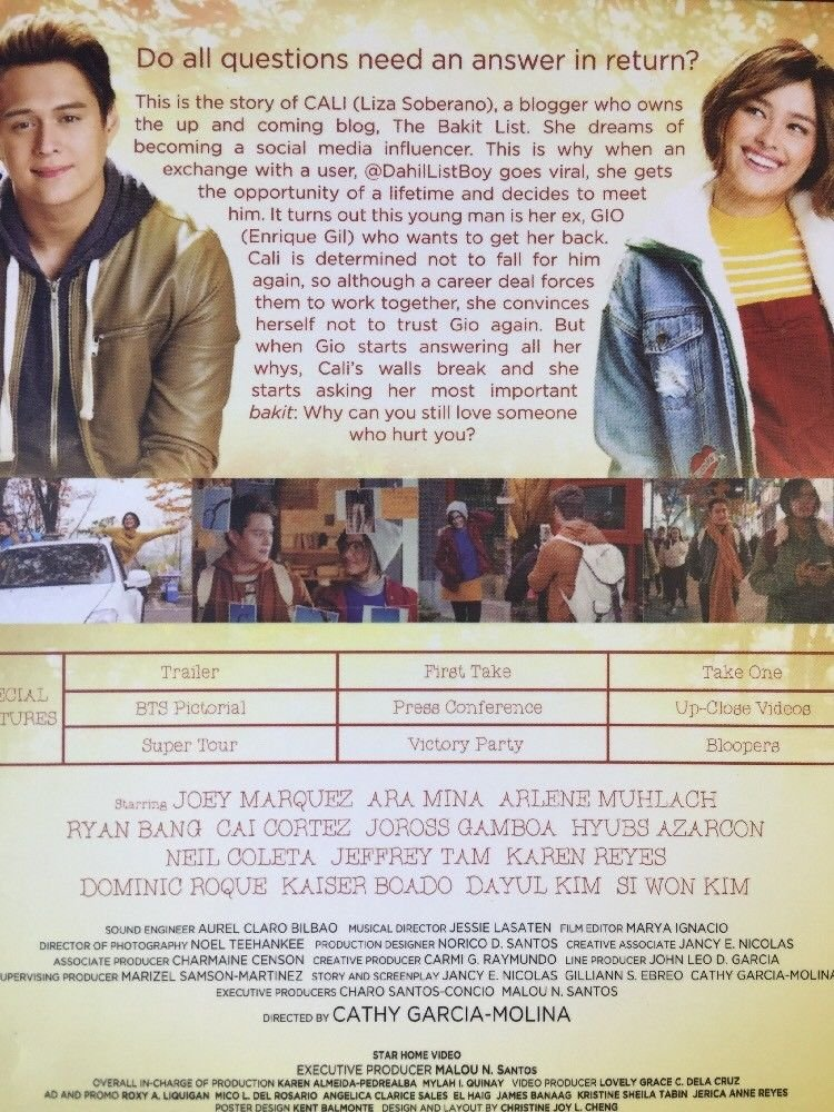 Amazon.com: My Ex And Whys Filipino DVD: Enrique Gil, Liza Soberano, Cathy Garcia Molina: Movies & TV