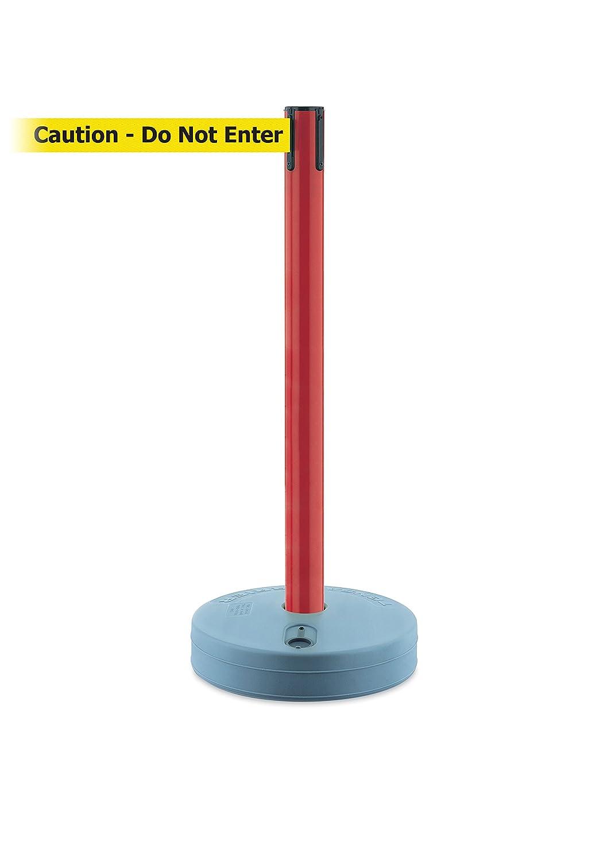No Custom Yellow Webbing//BlackCaution Do Not Enter Standard Belt End Tensabarrier 885-21-MAX-NO-YAX-C Outdoor Post with Red Tube Standard 13 No Custom Yellow Webbing//BlackCaution Do Not Enter Standard Belt End Standard 13/' Tensator