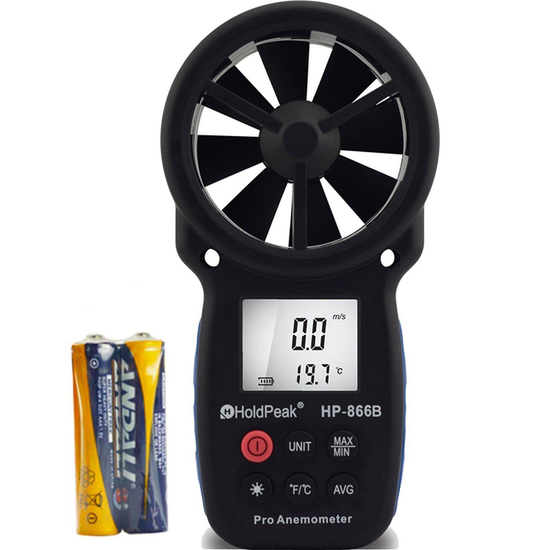 Anemómetro Digital de Mano, LCD, Retención de Datos HOLDPEAK 866B