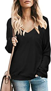 Sweepstakes: STYLEWORD Women's Long Sleeve V Neck Loose…