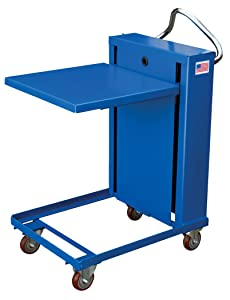 Vestil Self-Elevating Spring Table - 1,120-Lb. Capacity, 24in.L x 24in.W Platform, Model Number ETS-1120-24