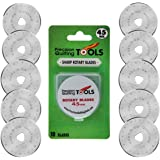 45mm Rotary Cutter Blades (PACK OF 10) Fits Olfa, Truecut, Martelli, and more! Perfect blade for Fabric, Quilting, and Sewing projects