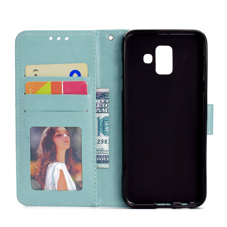 ZCRO H/ülle f/ür Samsung Galaxy A6 2018 A600 Handyh/ülle Tasche Handytasche Case Flip Cover H/ülle Schutzh/ülle Leder Geldb/örse Magnet Kartenfach Weich Silikon H/üllen f/ür Samsung Galaxy A6 2018 A600