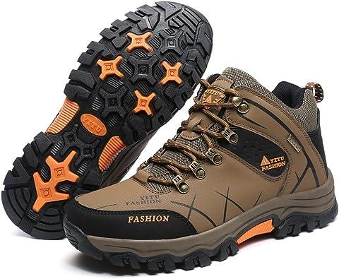 Botas de Senderismo para Hombre Caminata Trail Shoes Zapatillas de montaña Caminando al Aire Libre Boot High Top de GOMEANR: Amazon.es: Zapatos y complementos