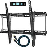 "Cheetah Mounts APTMM2B - Soporte de pared para TV de 32-65"", color gris - Incluye un cable HDMI Twisted Veins (m 3) con Ethernet"