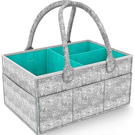 FJROnline - Cesta plegable para pañales de bebé, cesta de almacenamiento para guardería, cesta de fieltro, toallas ...