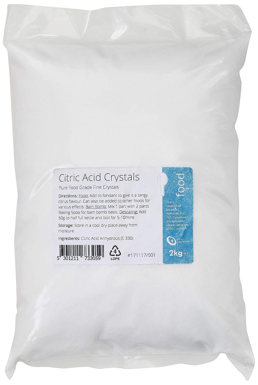 Citric Acid 2kg - 100% Pure Food Grade Fine Crystals Intralabs