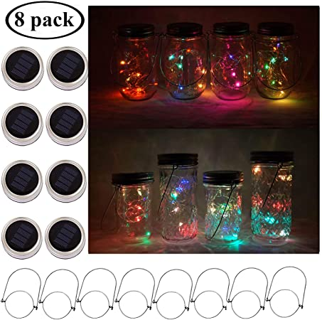 Smart Garden Solar String Firefly Fairy Jam Jar Lights Garden 10 Jars Outdoor