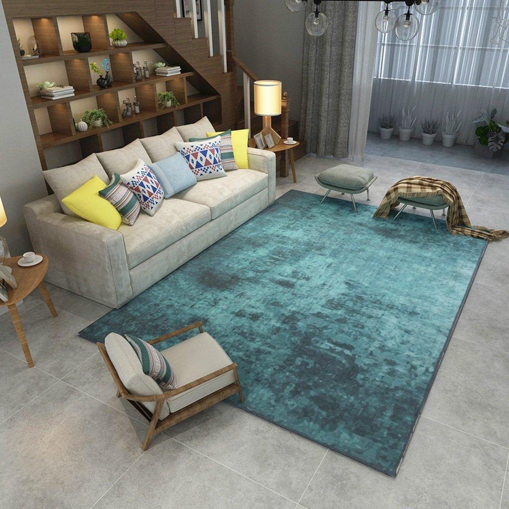 長方形のカーペット、抽象的なインク塗装、ベッドルームリビングルームコーヒーテーブルソファ、ホーム長方形ラグ(120cm * 160cm)   B07B4R36WT