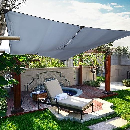 Lienzo de sombreado, 3 x 4 m Store Banne de terraza toldo rectangular impermeable para jardín balcón activété exterior pation Camping – Negro: Amazon.es: Jardín